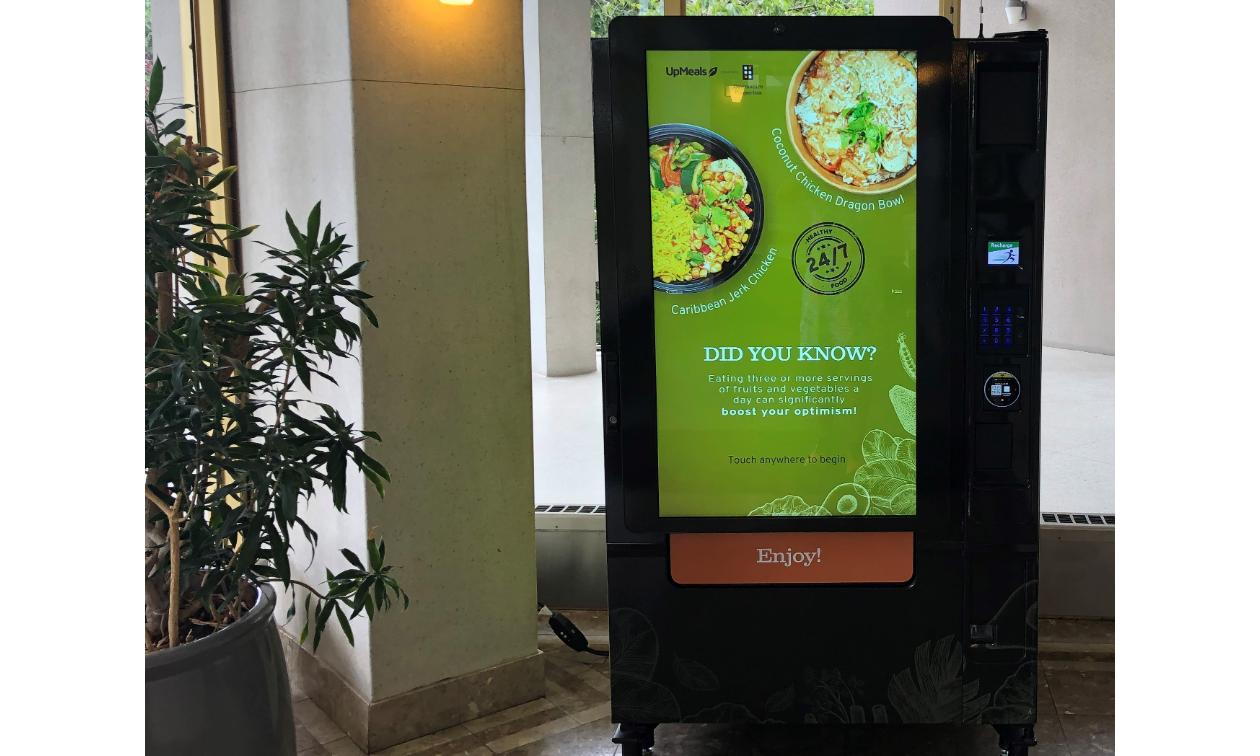 A SMRT1 Technologies vending machine.