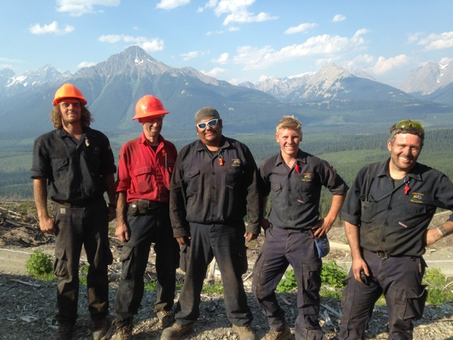 Strategic Fire Control Five Pack; left to Right Casey Elzinga, Al Freeze, Shane Jimmy, Peter Black & Mike Effray.