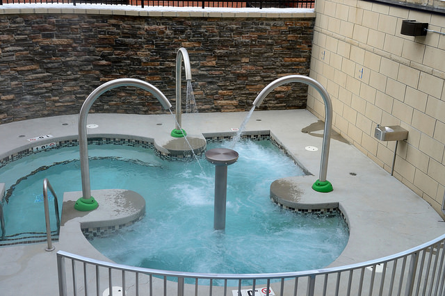 A relaxing hot tub is all part of the experience at SPA 901.