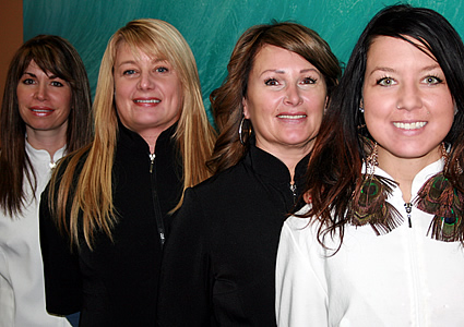 four of the staff at Indigo Spa in Fernie, BC