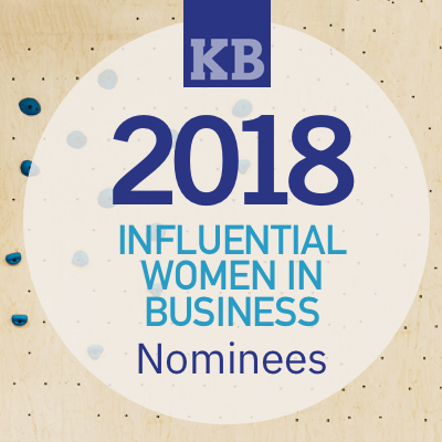 2018 Influential Women in Business graphic.