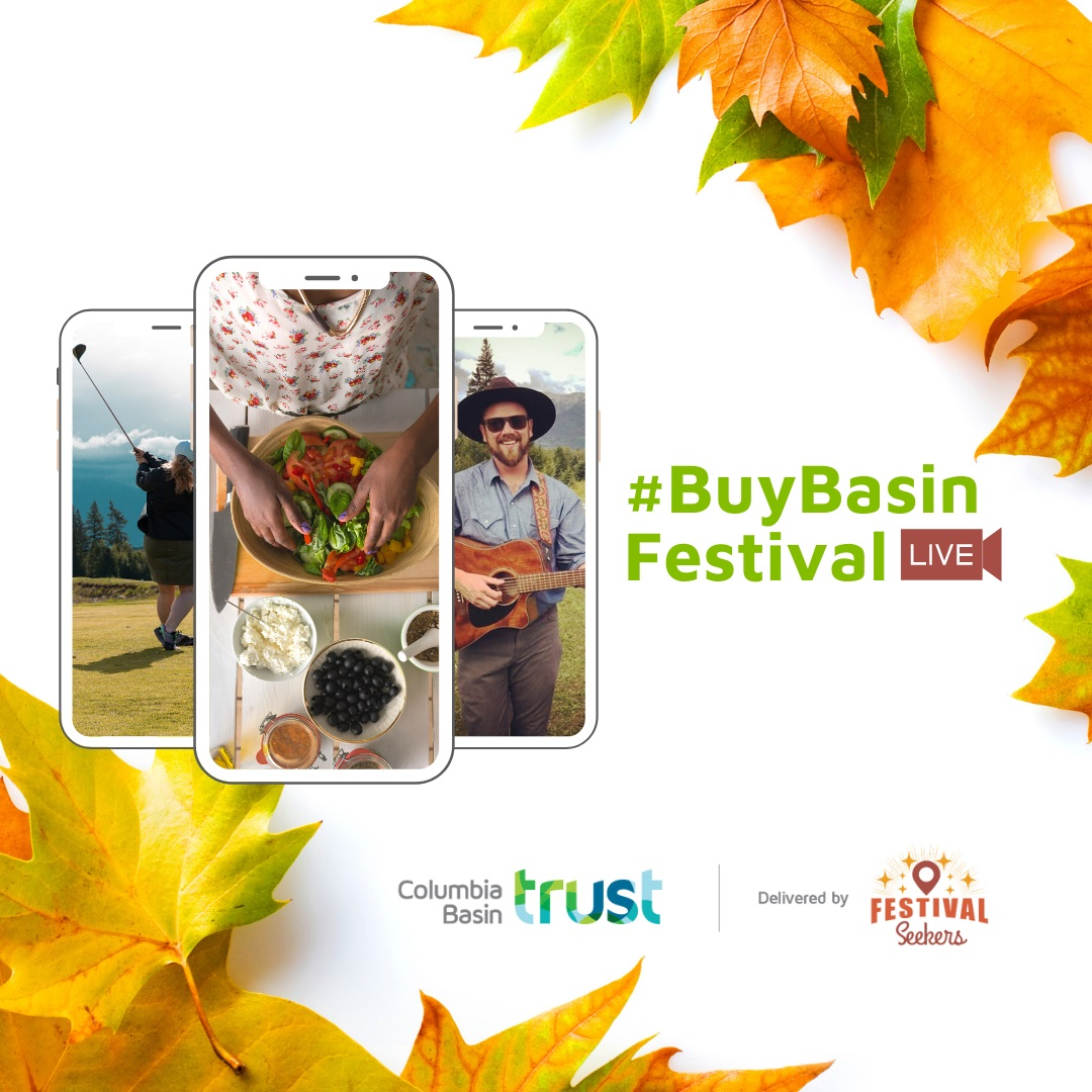 A poster promoting the #BuyBasin Festival.