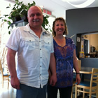 Dean and Angel Romano owners of The Pickled Bean restaurant at  Cranbrook's Canadian Rockies International Airport.