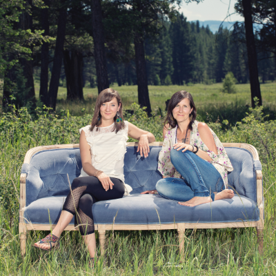 Milena Huebener (L) and Kyla Gent are the owners of Glow Decor Rentals in Invermere.