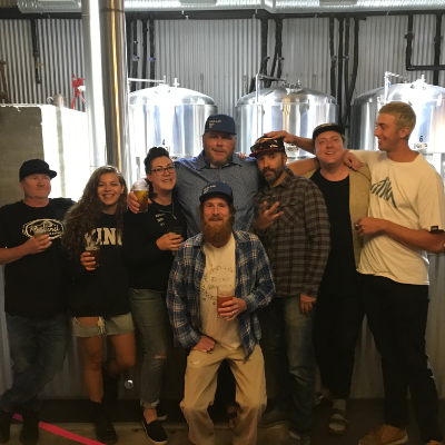 (L to R) Brad Brown, Emma Foyle, Jenn Wood, Petri Raito, Ryan Arnaud, Nate Miles, Hayden Hamming and (second row in front) Ryan Macdonald.