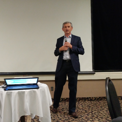 B.C. opposition leader Andrew Wilkinson shared his views on the upcoming referendum on electoral reform at the Cranbrook chamber luncheon at the Heritage Inn on September 19.