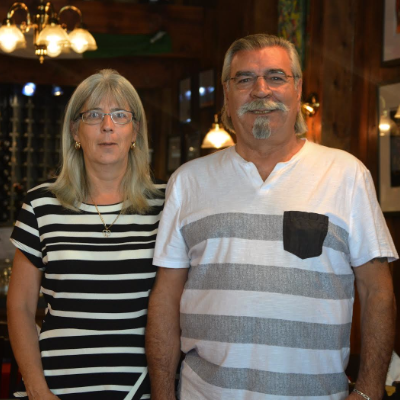 (L to R) Manager Sherry Davis and owner Giuseppe Leone of Pino's Authentic Italian Cuisine.