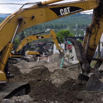 Excavators dig up 2nd Street South
