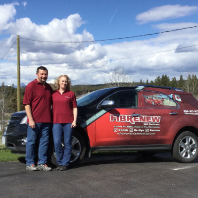 Larry and Anita Iler own Fibrenew East Kootenays.