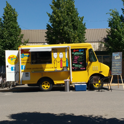 Keep an eye out for Good Grub's colourful new food truck when out and about in the Elk Valley.