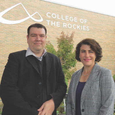 College of the Rockies Board of Governors elected new Board Chair, Jesse Nicholas and Vice-Chair, Cindy Yates.
