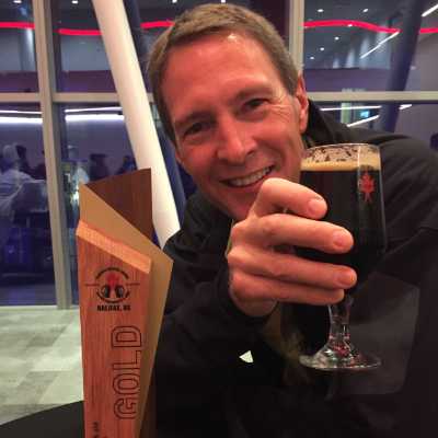 Fisher Peak Brewing Company's brewmaster, Jordon Aasland, earned a gold medal for his creation, Hellroaring Scottish Ale, at the Canadian Brewing Awards.