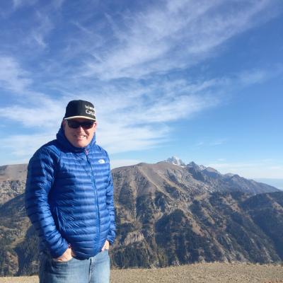 Mike McPhee on a mountain