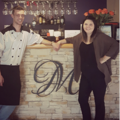 Brendan and Paige Mulder run their new restaurant, Mulder's, in Creston.