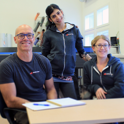 (L to R) Murray Kimber, owner and creative director, Tori Lotecki, client services and production lead, and Stephanie Delnea, senior designer, make up the Speedpro Signs team in Nelson, B.C.