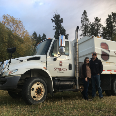 Cass and Matt Peterson have started up a new garbage disposal service in Cranbrook called Synergy Garbage.