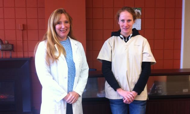 Dr. Colleen Kramer and Dr. Emma Davis of Beaver Valley Animal Clinic.