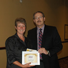 Sydney-Anne Porter of AG Valley Foods in Invermere was recognized with a 2012 Kootenay Women in Business award presented by Keith Powell.