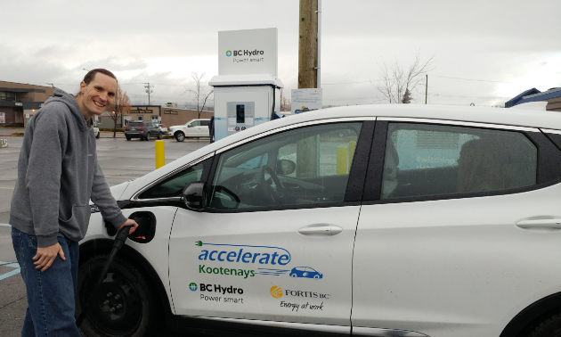 Charging an electric vehicle is a cinch. Cranbrook has a charging station behind the East Kootenay Credit Union on Baker Street.