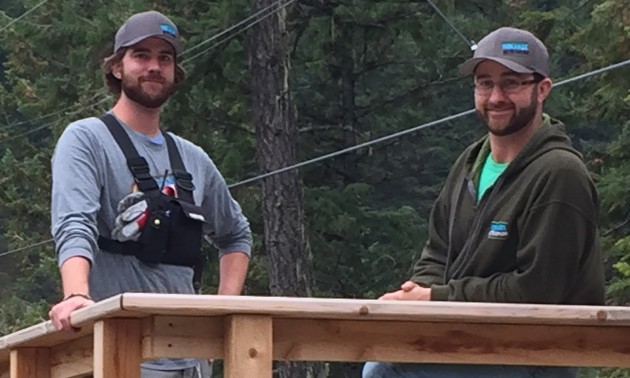 (L to R) Todd and Jay Manton are the owners of Kokanee Mountain Zipline in Nelson and Mineral Mountain Ziplines in Fairmont.