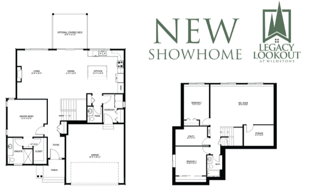 Floor plans for a new showhome
