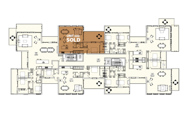 Floor plans for the 3rd floor of Legacy Summit.