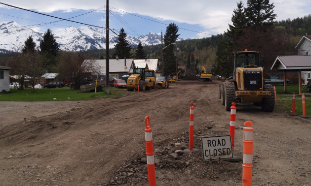A road is closed due to construction.