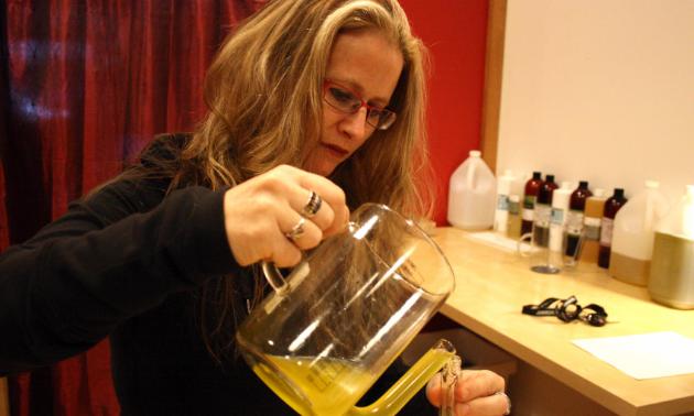 Michelle Cubin blends essential oils