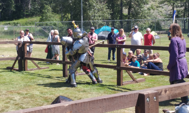 Knights fight for position in the arena