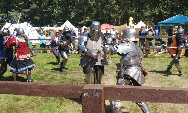Multiple knights get in a fight
