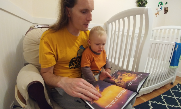 I read Viking Lullaby to my one-year-old son, Augustus, and he loves it too.