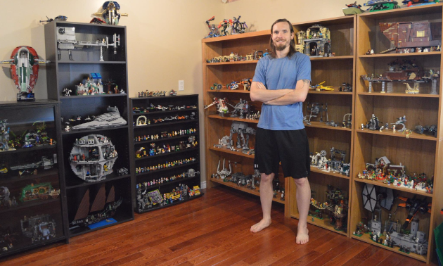 Photo of me in my Lego room