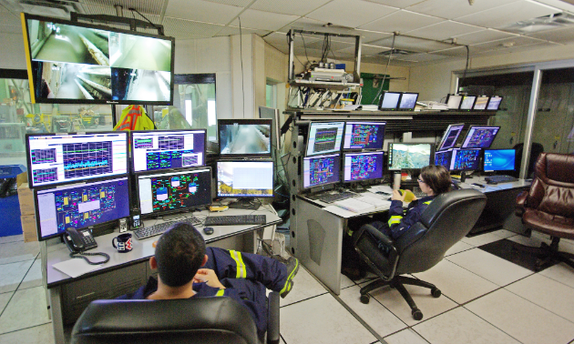 Pulp mill control room operators monitor and control the operation of digesters, screening equipment, washing equipment and other pulp processing equipment via an automated distributed control system (DCS). The DCS, along with video monitors, is used to ensure pulp processes are operating within key process parameters.