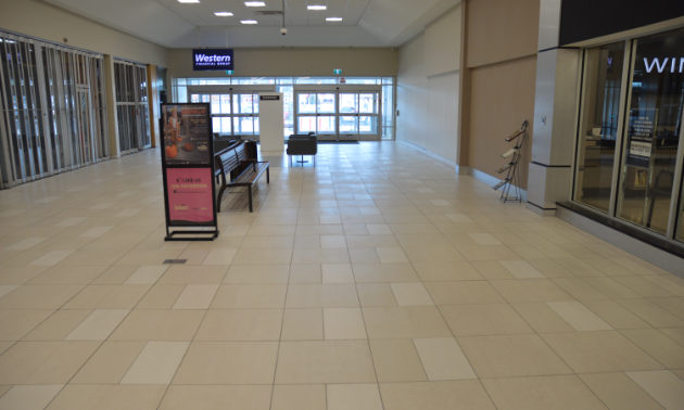 Tamarack Centre interior mall rear entrance