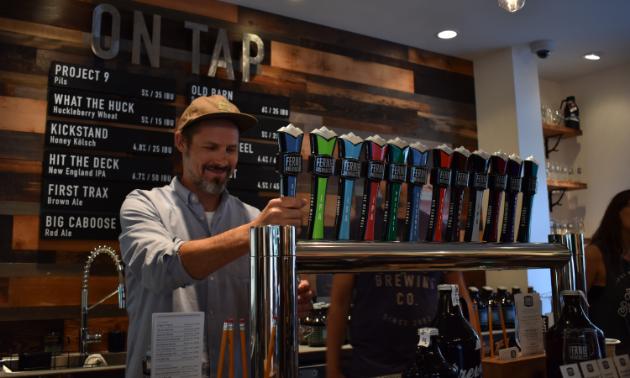 Fernie Brewing Company's new tasting room.