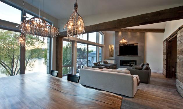 The Kootenay Haven living room