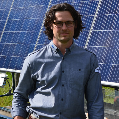 Aaron Lucke, owner of Wynndel Electric, is providing a mobile solar station to the vendors at the Creston Valley Farmers Market.