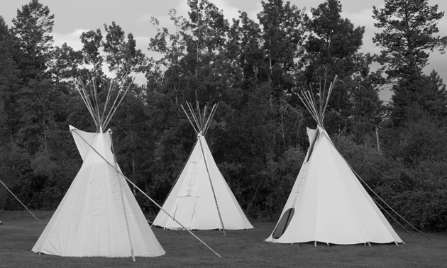 Teepees at Lakeshore Resort and Campground