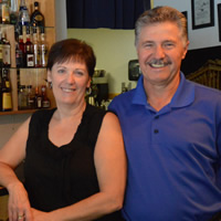 Cathy and Nico Tsantilas, owners of Apostoles Greek Restaurant in Golden, B.C.