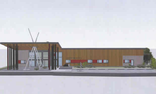 Artist's rendering of the ?aq?am Community Health & Wellness Facility