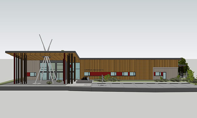 Artist's rendition of Aqam Health and Wellness facility.