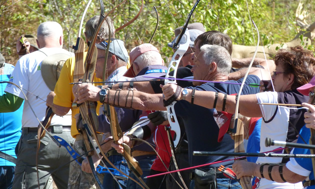 An archery round from last year's games in Vernon, B.C.