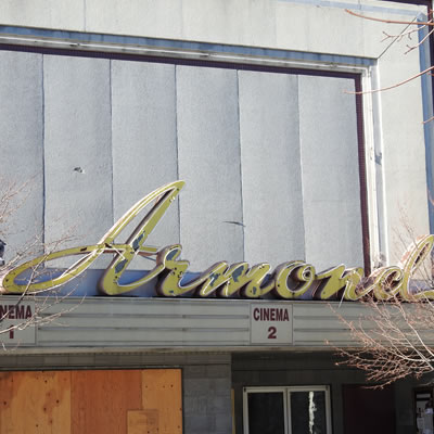 Outside facade of the Armond Theatre.