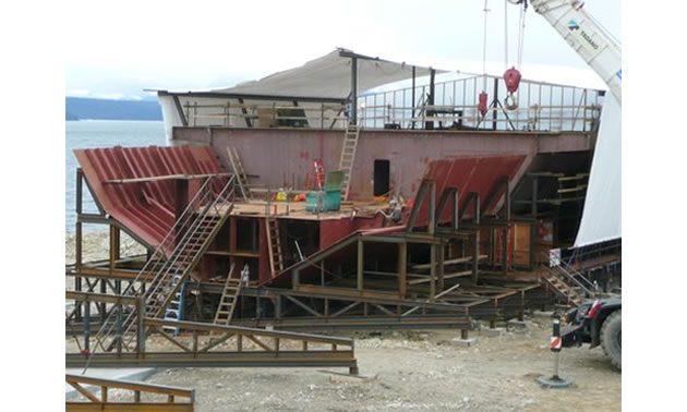 Photo of Arrow Lake Ferry construction