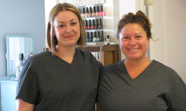 Silver Water Spa is a new amenity at the St. Eugene Golf Resort. Spa manager Ashley Nicholas (L), and esthetician Nicole Richards are delighted with their new workplace.