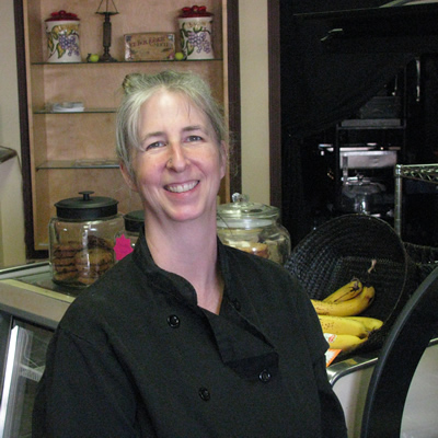 Barb Smythe is the owner-operator of Auntie Barb's Bakery, Bistro & Banquets in Cranbrook, B.C.