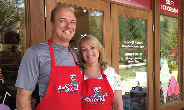 Gary and Kelly Schaal own and operate Tinmaster Sheet Metal and Aw Sweet Candy Co. in Fairmont Hot Springs, B.C.