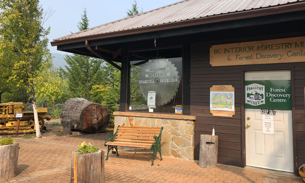 Exterior of BC Interior Forestry Museum.