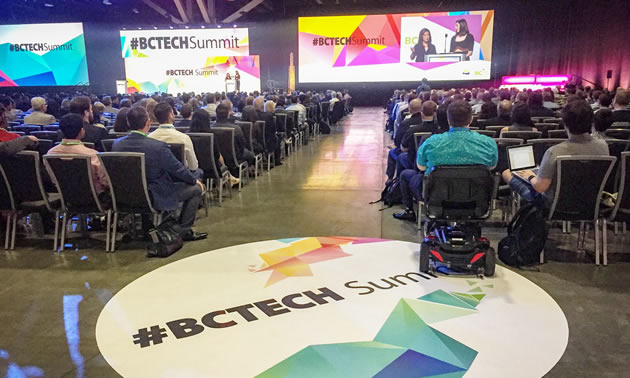 A good crowd showed up for the opening session of the BC Tech Summit.
