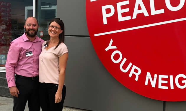 Owners of Pealow's Your Independent Grocer, Brian and Julia Pealow